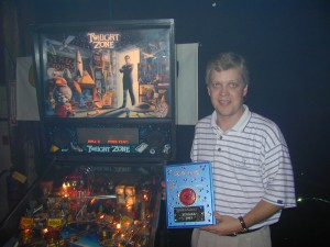 Jon Christian Won the Pinball Tourney